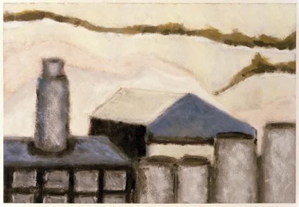 Dene Quarry 3 41 x 29 cms Acrylic on paper