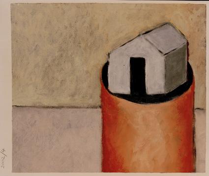 Dene Quarry 11.35 x 29cms. Acrylic on paper.