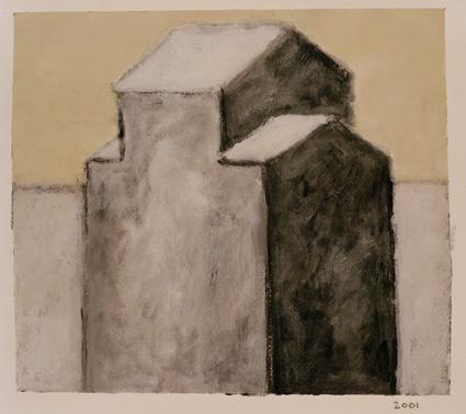 Dene Quarry12. 34 X 30 cms Acrylic on paper