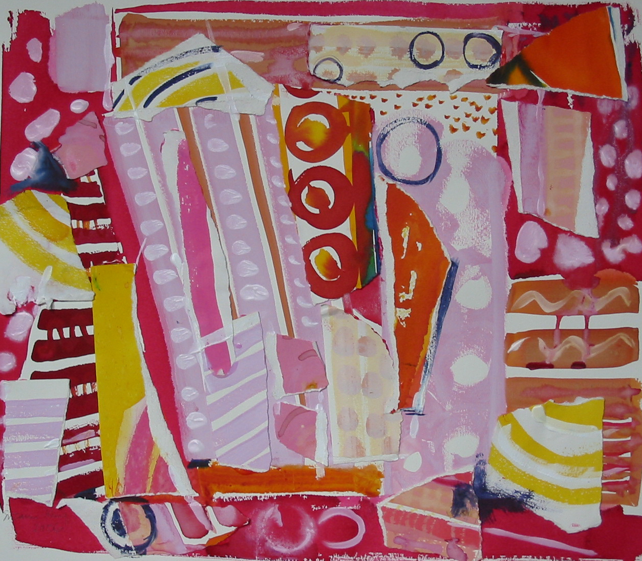 Harry's Quarry Collage  50 x 42 cms Mixed media #